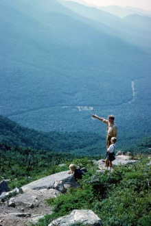 Dad, Rob and I on Mt. Washington. One of hundreds of walk we took during his life.