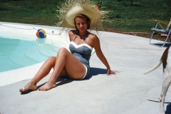 Mom, a 1950's bathing beauty.