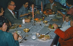 My first Thanksgiving with Mom's parents, who I called Boo( with the handlebar mustache) and Dot( McPherson) They lived close by and we spent lots of time at there roomy victorian in Cranford.