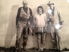 My grandfather,Opi with Mom and Dad and a good catch from the Raritan River