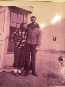 My parents, in front of what is now the Farm's cottage